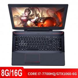 Juegos de ordenador portátil para 15,6 pulgadas 8G/16G DDR4 RAM 128G 256G 512G SSD Note ordenador con i7-7700HQ Teclado retroilu
