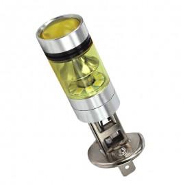 1 Uds LED para coche 3030 H1 100W lámpara antiniebla delantera amarilla H1 bombilla LED de alta potencia