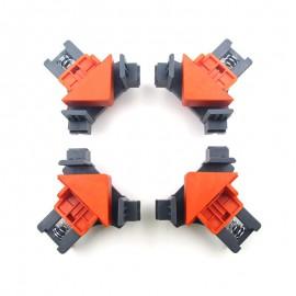 1/4 piezas 90 grados de ángulo recto abrazadera anclaje foto Marco de esquina para trabajar la madera de ángulo de la herramient