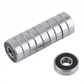 10 unids/set 608 2RS rodamiento ABEC-5 8X22X7mm de profundidad de ranura de acero rodamientos de bolas 608RS Z3V3 608-2RS 608rs