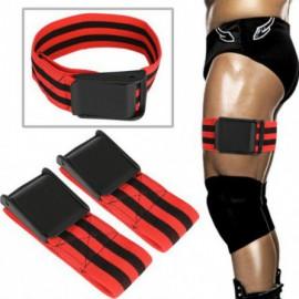 1 par BFR entrenamiento Fitness bandas de gimnasio de flujo de sangre oclusión vendaje deporte ejercicio culturismo Biceps banda